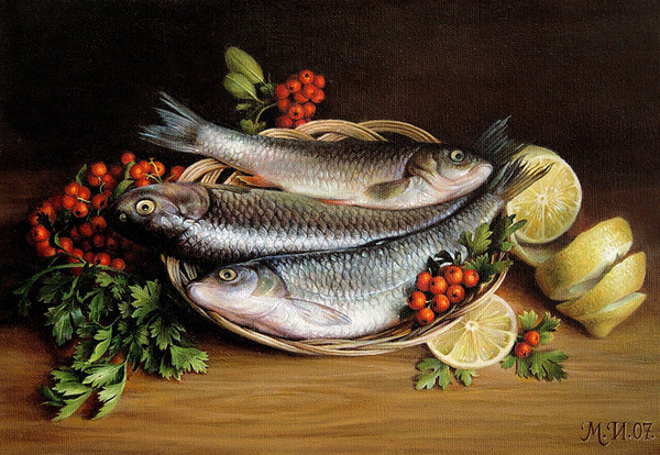 19в.Натюрморт с рыбойобл