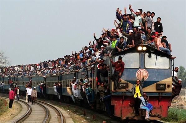 trem lotado
