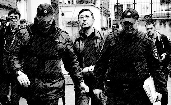 Рассмотрение ходатайства следствия о домашнем аресте бывшего лидера ДПНИ Александра Поткина (Белова)