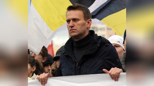 На фото - Навальный на одном из Русских Маршей.