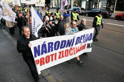На фото другая акция активистов «Национальной Демократии» Чехии