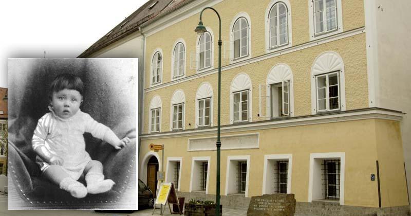 ARCHIV - Blick auf das Geburtshaus von Adolf Hitler in der Salzburger Vorstadt in Braunau am Inn in Österreich, aufgenommen am 12.04.2005. In Österreich ist eine Debatte um die künftige Nutzung des Geburtshauses von Adolf Hitler entbrannt. Das zweistöckige Gebäude im oberösterreichischen Braunau steht seit mehr als einem Jahr leer. Foto: Karlheinz Schindler dpa +++(c) dpa - Bildfunk+++